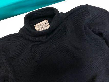 70年代 USN 美軍公發 套頭 毛衣 高領毛衣