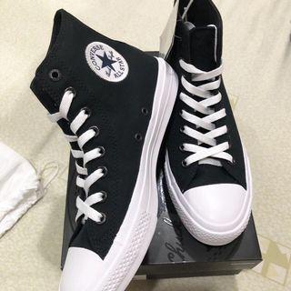 converse黑色高筒帆布鞋26cm/7.5