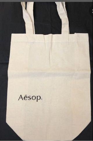 Aesop 澳洲文青保養品牌 麻布托特包 帆布袋