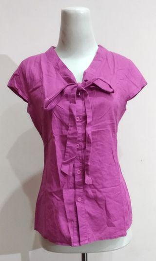 The Executive Blouse Ungu Formal Casual