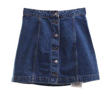TOPSHOP Button Skirt