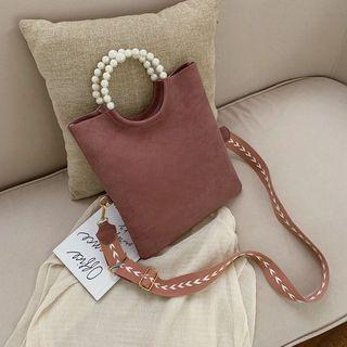 Large Capacity Pearl Shoulder Handbag 5 Colors
