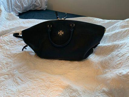 Authentic Black Leather Pebble Tory Burch purse