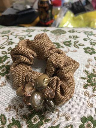 綁髮圈(日本專櫃)麻布質地