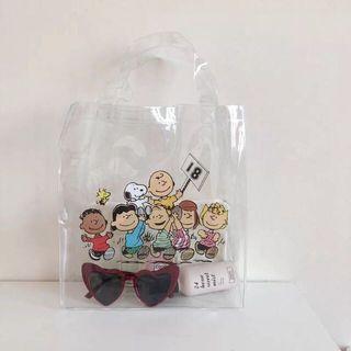 Korean transparant tote bag / pvc tote bag