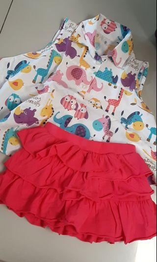 Girl set size 1.5-2th