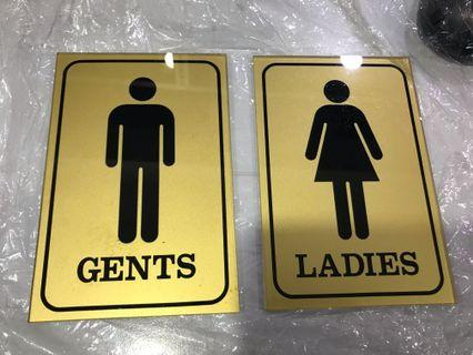 Toilet Signages - female & male