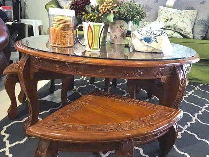 Coffee table kayu jati