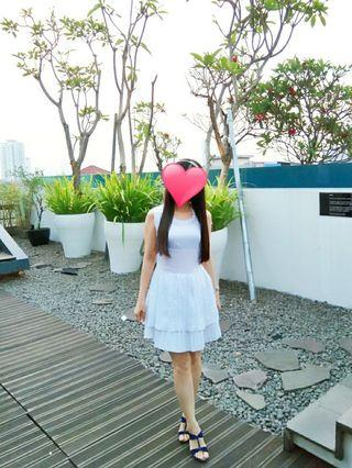 Textured white dress