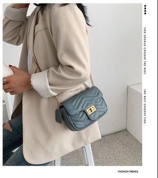 氣質2ways小包包女2019新款韓版時尚肩背斜背鎖扣鏈包