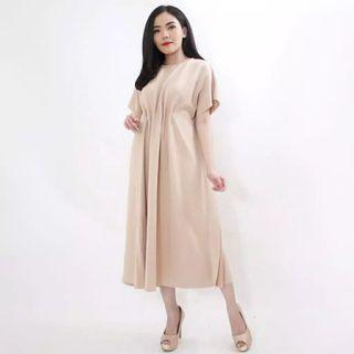 Nude Scuba Dress Soft Cream