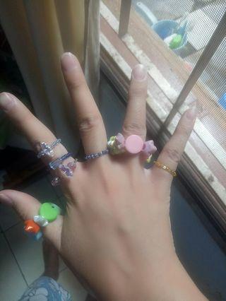 Set cincin manik manik 7 pcs