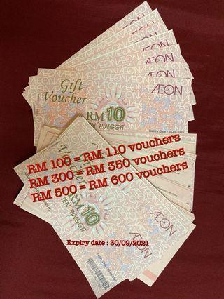 Aeon Voucher to sell _ Urgent_ expiry date 30/09/21