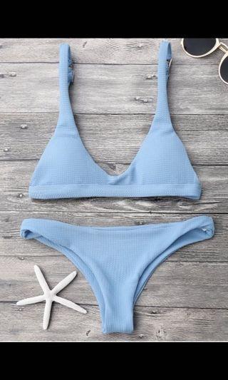 🥰💙light blue zaful bikini💙🥰