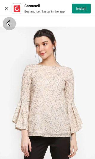 Zalia lace flare sleeves top
