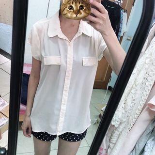Lativ 短袖雪紡襯衫