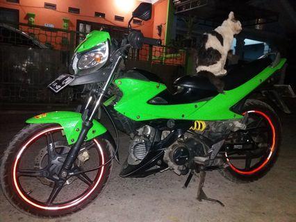 Kawasaki Athlete Hijau 125cc,Pajak&Kaleng Jalan,Nomr Plat Cantik,No PR
