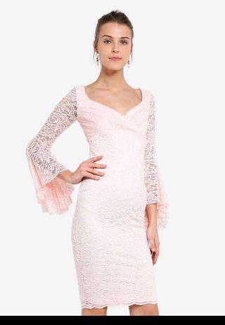 *PROMO*BNWT Goddiva Frill Sleeve Lace Dress