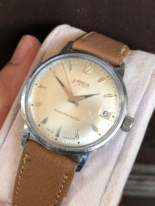 Vintage Lanco swiss made men handwind watch