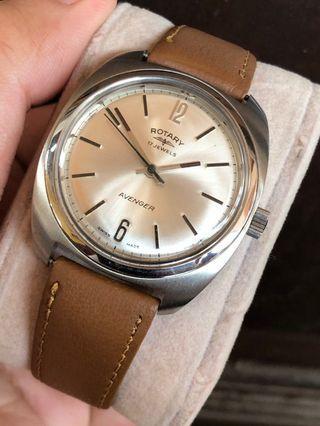 Vintage Rotary Avanger Men Handwind Watch