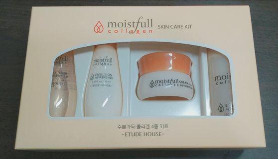 現貨 Etude House 水足感保濕膠原蛋白保養組 Collagen Moistfull skin care kit