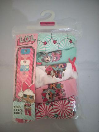 Primark LOL undies / celana dalam anak
