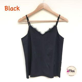 Black Top / Tanktop brokat bangkok / sleeveless tali bkk / tank top brukat hitam / 2089