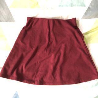 Cotton on Maroon Skirt #1010