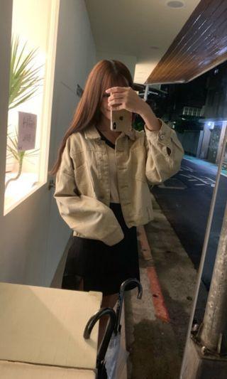 韓國超美奶茶色短版外套❤️
