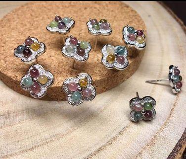 ♥️萍價水晶♥️ 碧璽 耳針  吊飾 飾品  (隨機出貨)
