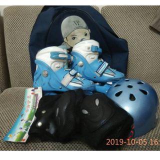 飛力 VP 兒童直排輪 / 安全帽 / 全新護具