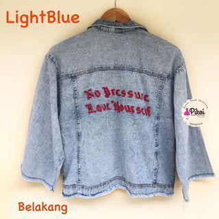 Jaket Jeans / Jaket jeans BTS ARMY LOVE YOURSELF : HER / jeans jacket oversize denim / 1775