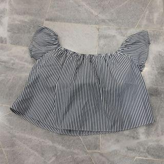 Stripes Off Shoulder Top