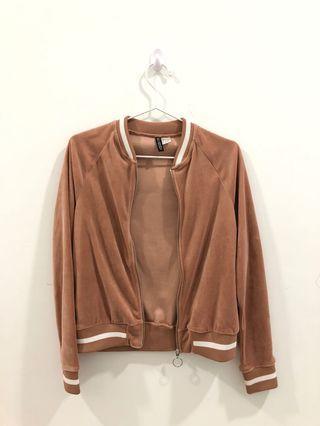 H&M Velvet Bomber Jacket