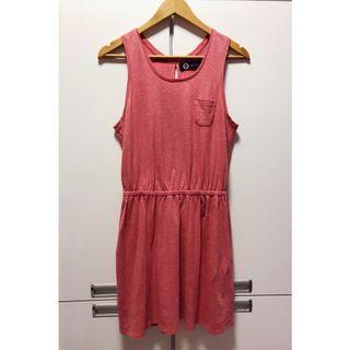 法牌🇫🇷Agnes b. 小b正品休閒小口袋縮腰棉質洋裝