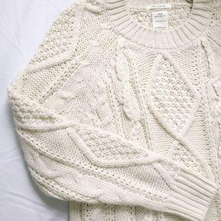 Zara cable-knit chunky sweater