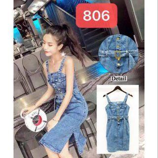 Overall jeans BKK dress premium import bangkok