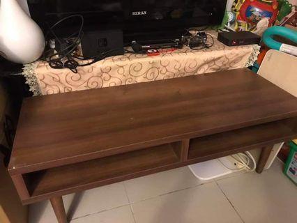 深色木紋 收納大茶几 客廳桌 電視桌 需自取