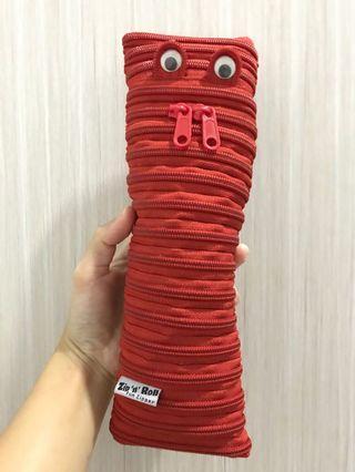 Red Zipper Pencil Case