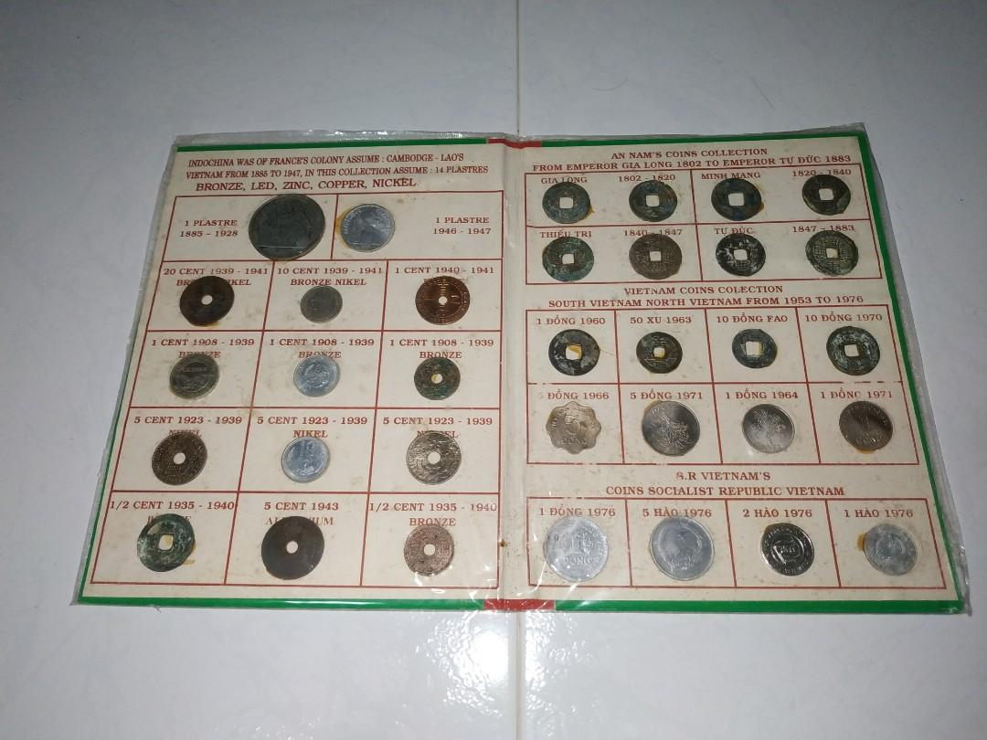 1 x complete set Indochine - Annam Vietnam coins collection with free delivery