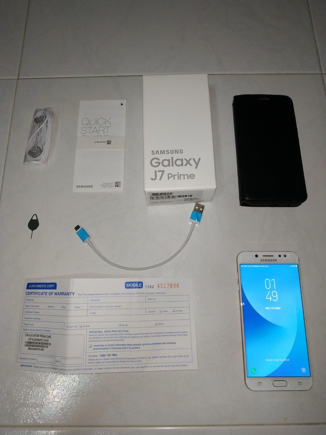 1 x used Samsung J7 Prime full set with free delivery