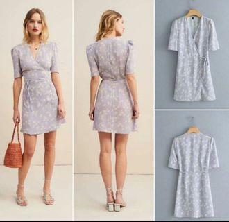 Violet floral dress