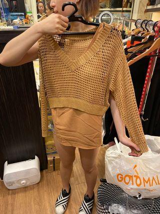 香港二件式針織上衣