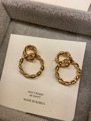 正韓純銀耳針式耳環