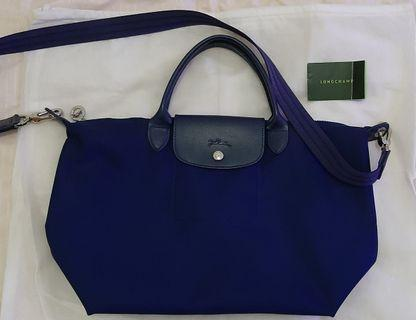 Tas Longchamp Neo Navy Blue (Medium)