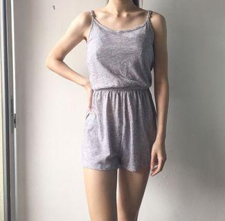 H&M grey Romper