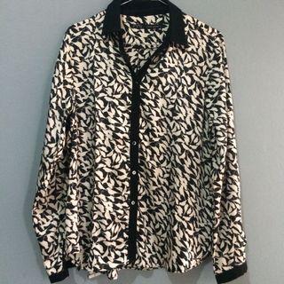 Kemeja satin Leopard