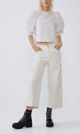 Zara white volumize blouse