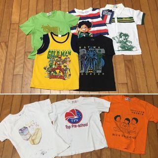 二手8件合售 約6-7歲 粗穿外出短袖T恤上衣