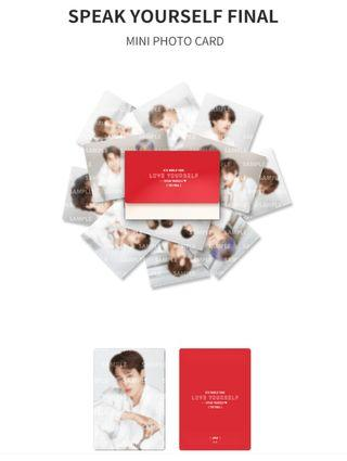 Loose - BTS [The Final] Mini Photocard